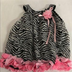 Rare Editions size 4T zebra tunic top